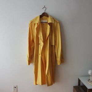 Vintage Escada Yellow Trench Coat